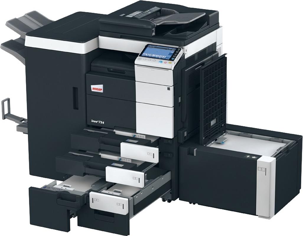 develop ineo  754e colour copier  printer  scanner
