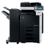 Konica Minolta Bizhub C280 Colour Copier with document feeder finisher and trays
