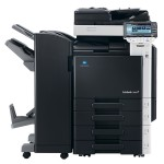 Konica Minolta Bizhub C360 Colour Copier with document feeder finisher and trays