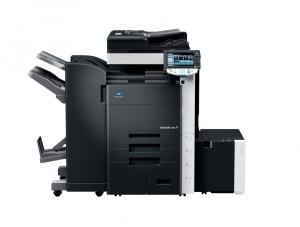 Konica Minolta Bizhub C452 Copier with document feeder finisher large capacity trays