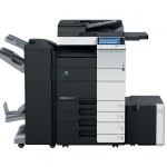 Konica Minolta Bizhub C554 Copier with document feeder finisher large capacity trays