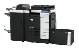 Develop Ineo+ 754e Colour Copier document feeder finisher stapler saddle kit and large capacity trays
