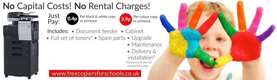 Free Copiers For Schools, Pay For Copies Only, Free Consumables, No Hidden Charges