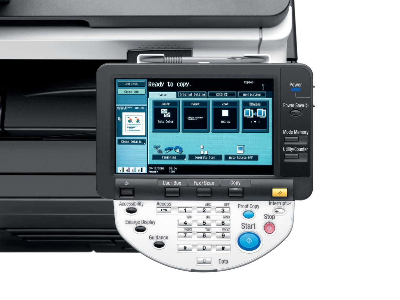 konica minolta bizhub c452 colour copier  printer  scanner