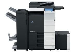 Konica Minolta Bizhub C554 Copier with document feeder finisher large capacity trays