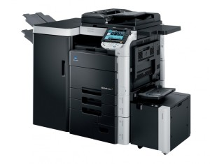 Konica Minolta Bizhub C652 Copier with document feeder finisher stapler large capacity trays