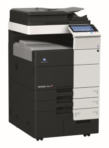 Konica Minolta Bizhub C754e Colour Copier with Document Feeder Finisher and Trays