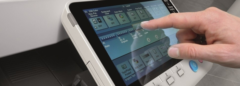 Copier Multi Touch Panel allows intuitive and quick navigation
