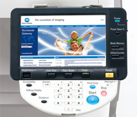 Konica Minolta C552 Upgraded AJAX-Supported Web Browser
