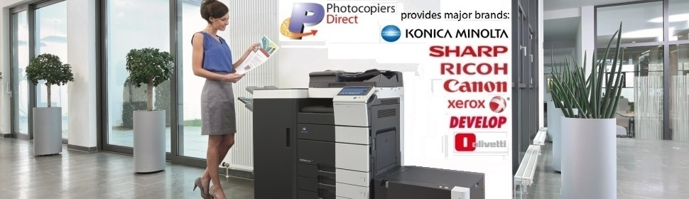 Photocopiers Direct provides all major copier brands: Konica Minolta, Sharp, Ricoh, Canon, Xerox, Develop and Olivetti to suit your business needs.